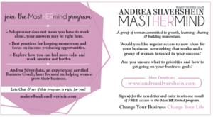 Andrea Silvershein MASTHERMIND