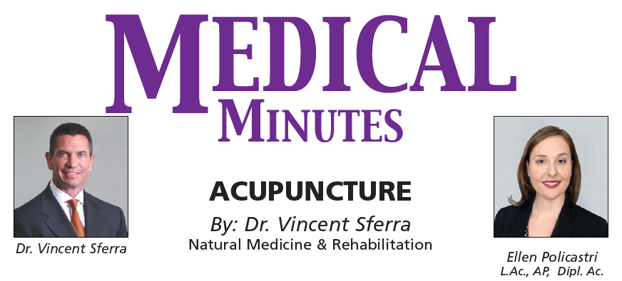MEDICAL MINUTES: Acupuncture  By: Dr. Vincent Sferra